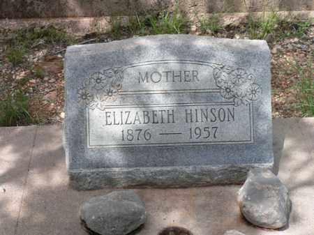 HINSON, ELIZABETH L. - Santa Cruz County, Arizona   ELIZABETH L. HINSON - Arizona Gravestone Photos