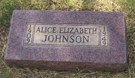 JOHNSON, ALICE ELIZABETH - Santa Cruz County, Arizona | ALICE ELIZABETH JOHNSON - Arizona Gravestone Photos