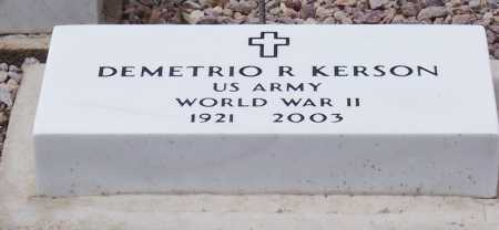 KERSON, DEMETRIO R - Santa Cruz County, Arizona | DEMETRIO R KERSON - Arizona Gravestone Photos