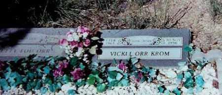 ORR KROM, VICKI L. - Santa Cruz County, Arizona | VICKI L. ORR KROM - Arizona Gravestone Photos