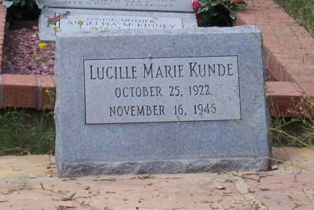 KUNDE, LUCILLE MARIE - Santa Cruz County, Arizona   LUCILLE MARIE KUNDE - Arizona Gravestone Photos