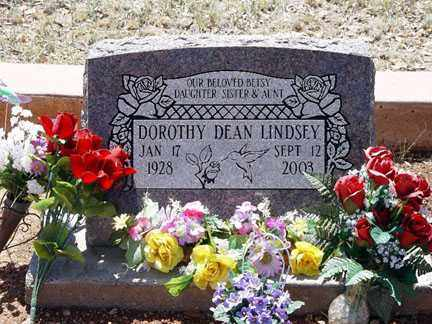 LINDSEY, DOROTHY DEAN - Santa Cruz County, Arizona | DOROTHY DEAN LINDSEY - Arizona Gravestone Photos