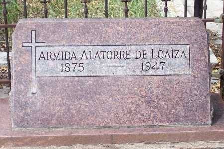 ALATORRE LOAIZA, DE, ARMIDA - Santa Cruz County, Arizona   ARMIDA ALATORRE LOAIZA, DE - Arizona Gravestone Photos