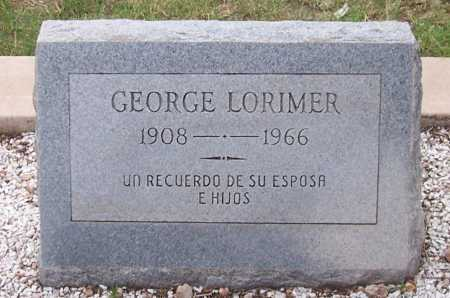 LORIMER, GEORGE - Santa Cruz County, Arizona | GEORGE LORIMER - Arizona Gravestone Photos