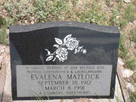 MATLOCK, EVALENA - Santa Cruz County, Arizona | EVALENA MATLOCK - Arizona Gravestone Photos