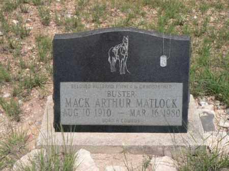 MATLOCK, MACK ARTHUR - Santa Cruz County, Arizona | MACK ARTHUR MATLOCK - Arizona Gravestone Photos