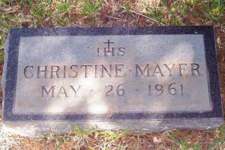 MAYER, CHRISTINE - Santa Cruz County, Arizona | CHRISTINE MAYER - Arizona Gravestone Photos