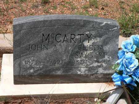 SWIGART MCCARTY, RHODA - Santa Cruz County, Arizona | RHODA SWIGART MCCARTY - Arizona Gravestone Photos