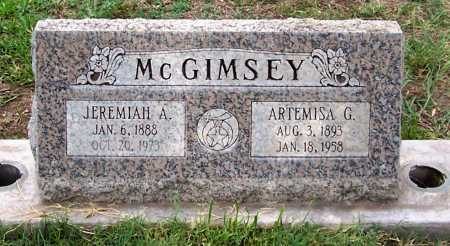 MCGIMSEY, JEREMIAH A. - Santa Cruz County, Arizona | JEREMIAH A. MCGIMSEY - Arizona Gravestone Photos