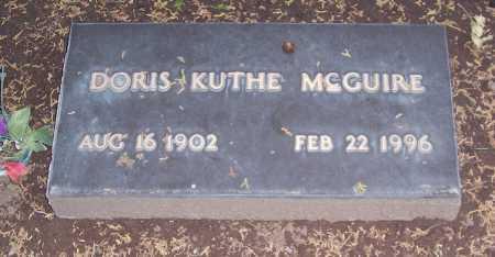KUTHE MCGUIRE, DORIS - Santa Cruz County, Arizona | DORIS KUTHE MCGUIRE - Arizona Gravestone Photos