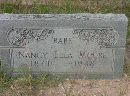 MOORE, NANCY ELLA - Santa Cruz County, Arizona | NANCY ELLA MOORE - Arizona Gravestone Photos