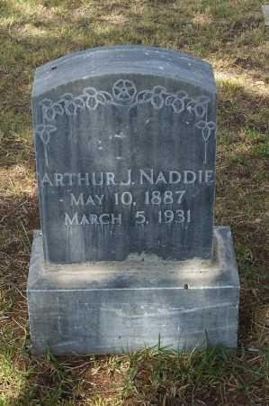 NADDIE, ARTHUR J. - Santa Cruz County, Arizona   ARTHUR J. NADDIE - Arizona Gravestone Photos