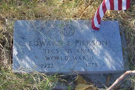 PIERSON, EDWARD E. - Santa Cruz County, Arizona | EDWARD E. PIERSON - Arizona Gravestone Photos