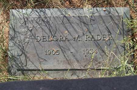 RADER, DELORA M. - Santa Cruz County, Arizona | DELORA M. RADER - Arizona Gravestone Photos