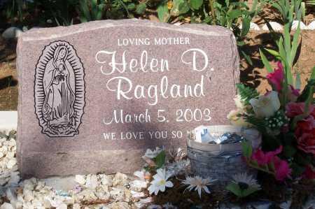 RAGLAND, HELEN D. - Santa Cruz County, Arizona | HELEN D. RAGLAND - Arizona Gravestone Photos
