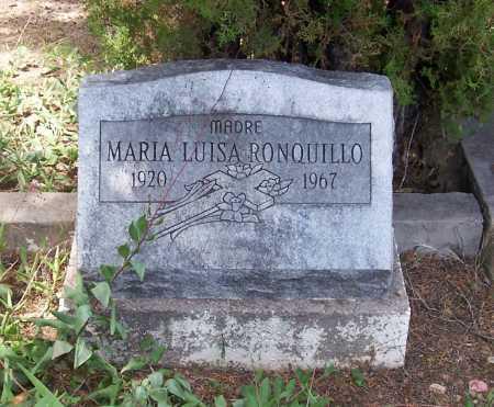 RONQUILLO, MARIA LUISA - Santa Cruz County, Arizona   MARIA LUISA RONQUILLO - Arizona Gravestone Photos