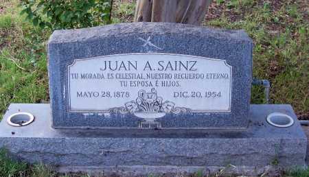 SAINZ, JUAN A. - Santa Cruz County, Arizona   JUAN A. SAINZ - Arizona Gravestone Photos