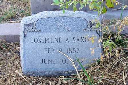 SAXON, JOSEPHINE A. - Santa Cruz County, Arizona   JOSEPHINE A. SAXON - Arizona Gravestone Photos