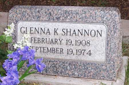 SHANNON, GLENNA K. - Santa Cruz County, Arizona | GLENNA K. SHANNON - Arizona Gravestone Photos