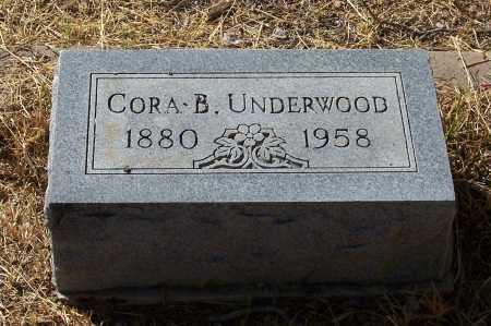 UNDERWOOD, CORA B. - Santa Cruz County, Arizona   CORA B. UNDERWOOD - Arizona Gravestone Photos