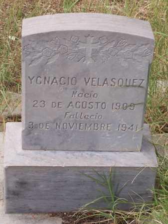 VELASQUEZ, YGNACIO - Santa Cruz County, Arizona   YGNACIO VELASQUEZ - Arizona Gravestone Photos