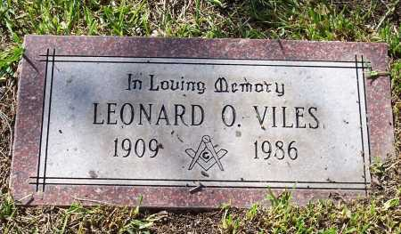 VILES, LEONARD O. - Santa Cruz County, Arizona | LEONARD O. VILES - Arizona Gravestone Photos