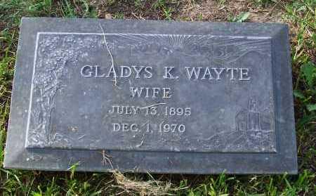 WAYTE, GLADYS K. - Santa Cruz County, Arizona | GLADYS K. WAYTE - Arizona Gravestone Photos