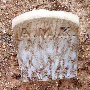 UNKNOWN, A. M. K. - Yavapai County, Arizona | A. M. K. UNKNOWN - Arizona Gravestone Photos