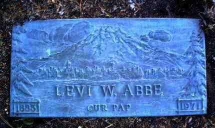 ABBE, LEVI WALTER - Yavapai County, Arizona | LEVI WALTER ABBE - Arizona Gravestone Photos