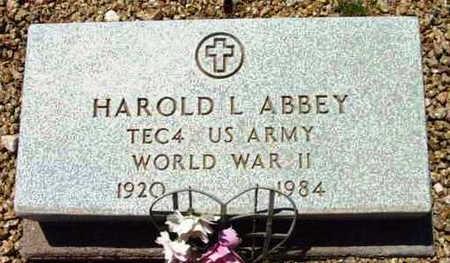 ABBEY, HAROLD L. - Yavapai County, Arizona | HAROLD L. ABBEY - Arizona Gravestone Photos