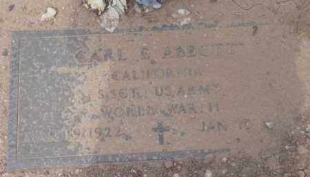 ABBOTT, CARL EDWARD - Yavapai County, Arizona | CARL EDWARD ABBOTT - Arizona Gravestone Photos
