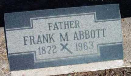 ABBOTT, FRANK M. - Yavapai County, Arizona | FRANK M. ABBOTT - Arizona Gravestone Photos