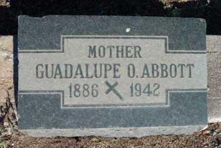 ORTIZ ABBOTT, GUADALUPE - Yavapai County, Arizona   GUADALUPE ORTIZ ABBOTT - Arizona Gravestone Photos