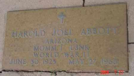 ABBOTT, HAROLD JOEL - Yavapai County, Arizona | HAROLD JOEL ABBOTT - Arizona Gravestone Photos