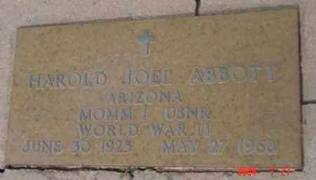 ABBOTT, HAROLD JOEL - Yavapai County, Arizona | HAROLD JOEL ABBOTT - Arizona Gravestone Photos