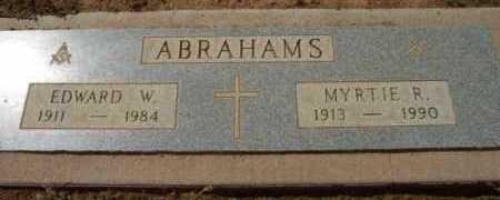 ABRAHAMS, MYRTLE R. (MYRTIE) - Yavapai County, Arizona | MYRTLE R. (MYRTIE) ABRAHAMS - Arizona Gravestone Photos