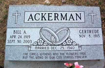 ACKERMAN, GERTRUDE - Yavapai County, Arizona | GERTRUDE ACKERMAN - Arizona Gravestone Photos