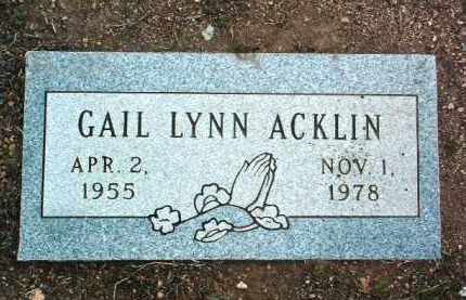 ACKLIN, GAIL LYNN - Yavapai County, Arizona | GAIL LYNN ACKLIN - Arizona Gravestone Photos