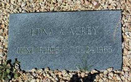 ACREY, EDNA ALLENE - Yavapai County, Arizona | EDNA ALLENE ACREY - Arizona Gravestone Photos