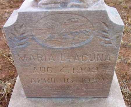 ACUNA, MARIA L. - Yavapai County, Arizona | MARIA L. ACUNA - Arizona Gravestone Photos