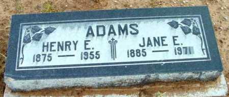 ADAMS, HENRY E. - Yavapai County, Arizona | HENRY E. ADAMS - Arizona Gravestone Photos