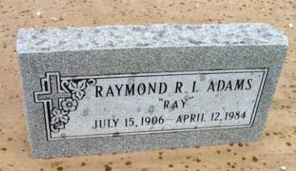 ADAMS, RAYMOND LEWIS - Yavapai County, Arizona | RAYMOND LEWIS ADAMS - Arizona Gravestone Photos