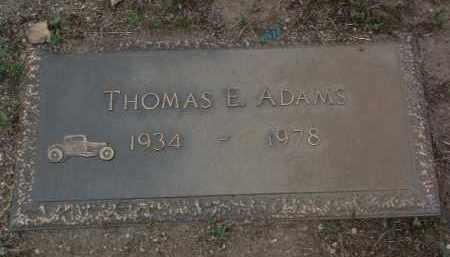 ADAMS, THOMAS EDWARD - Yavapai County, Arizona | THOMAS EDWARD ADAMS - Arizona Gravestone Photos