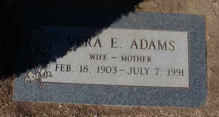 ADAMS, VERA ESTHER - Yavapai County, Arizona | VERA ESTHER ADAMS - Arizona Gravestone Photos
