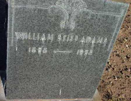 ADAMS, WILLIAM STITT - Yavapai County, Arizona   WILLIAM STITT ADAMS - Arizona Gravestone Photos