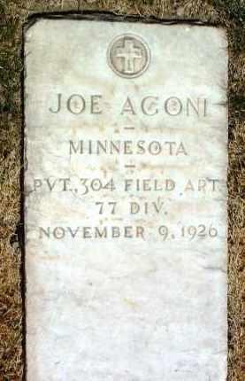 AGONI, JOSEPH (JOE) - Yavapai County, Arizona   JOSEPH (JOE) AGONI - Arizona Gravestone Photos