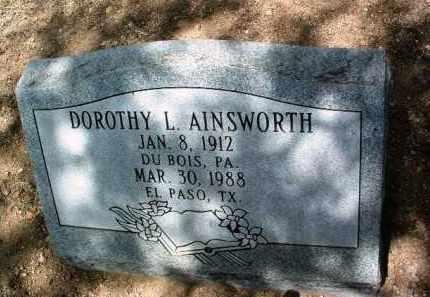 AINSWORTH, DOROTHY L. - Yavapai County, Arizona   DOROTHY L. AINSWORTH - Arizona Gravestone Photos