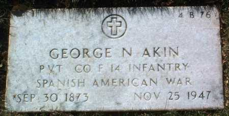 AKIN, GEORGE N. - Yavapai County, Arizona | GEORGE N. AKIN - Arizona Gravestone Photos