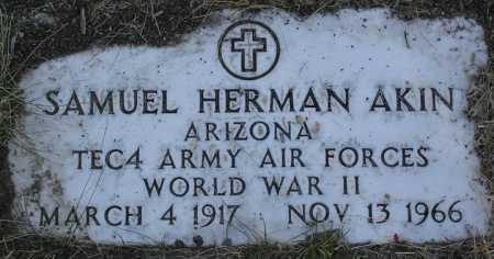 AKIN, SAMUEL HERMAN - Yavapai County, Arizona   SAMUEL HERMAN AKIN - Arizona Gravestone Photos