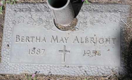 EISENHOWER ALBRIGHT, BERTHA MAY - Yavapai County, Arizona | BERTHA MAY EISENHOWER ALBRIGHT - Arizona Gravestone Photos